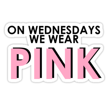 on wednesdays we wear pink png