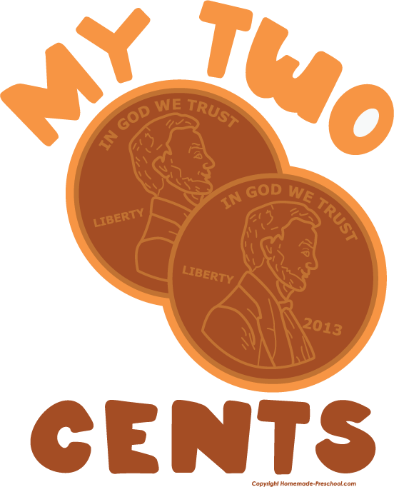 Two cents . Patriotic clipart image royalty free download