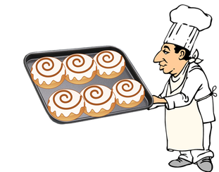 Cinnamon roll clipart drawing. Clip art library