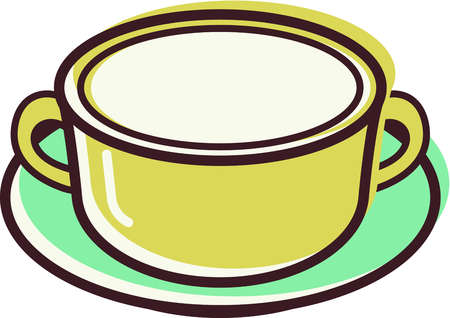 Bowl clipart saucer. Stock illustration of a