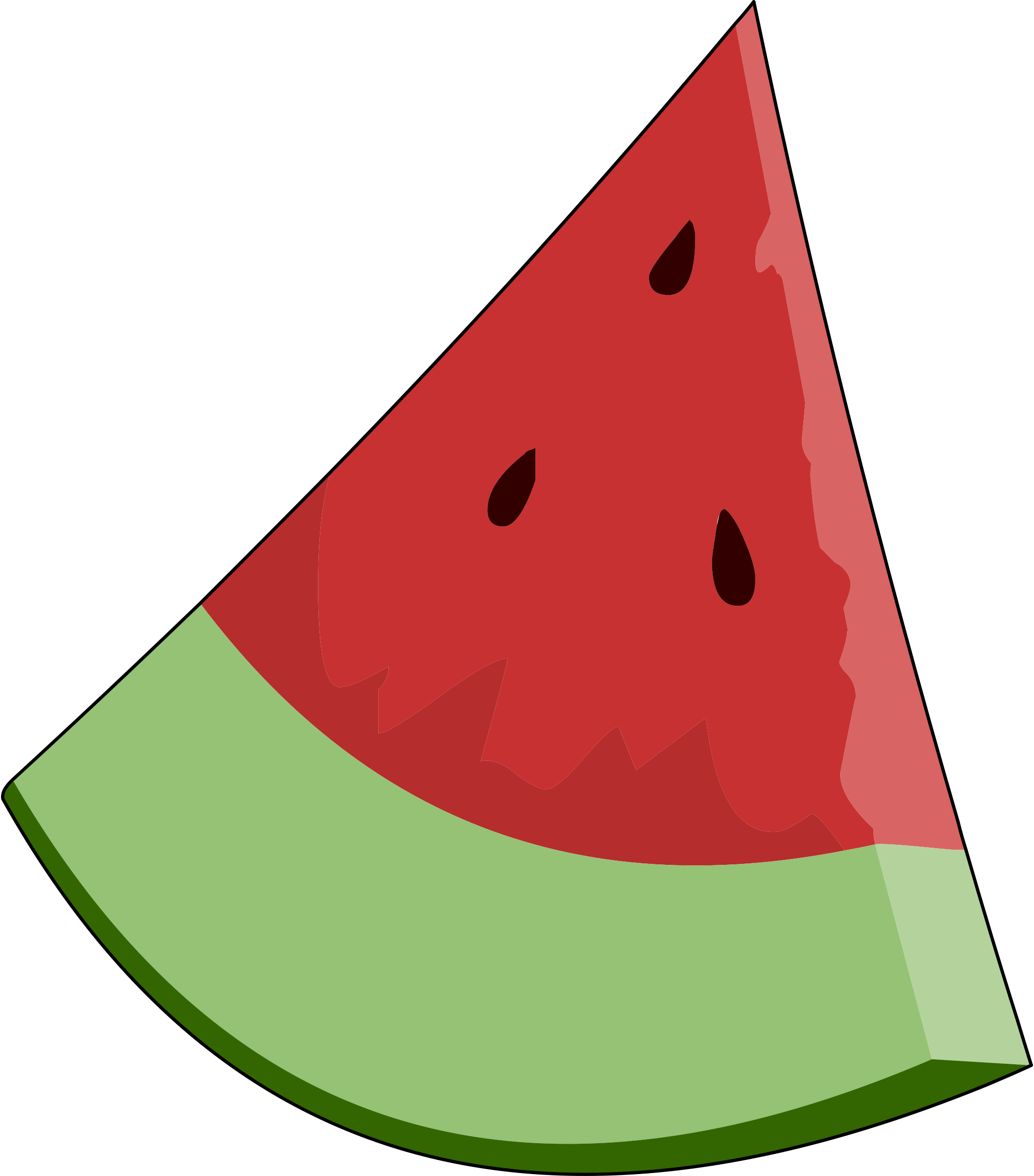 Watermelon clipart juicy watermelon. Seed free