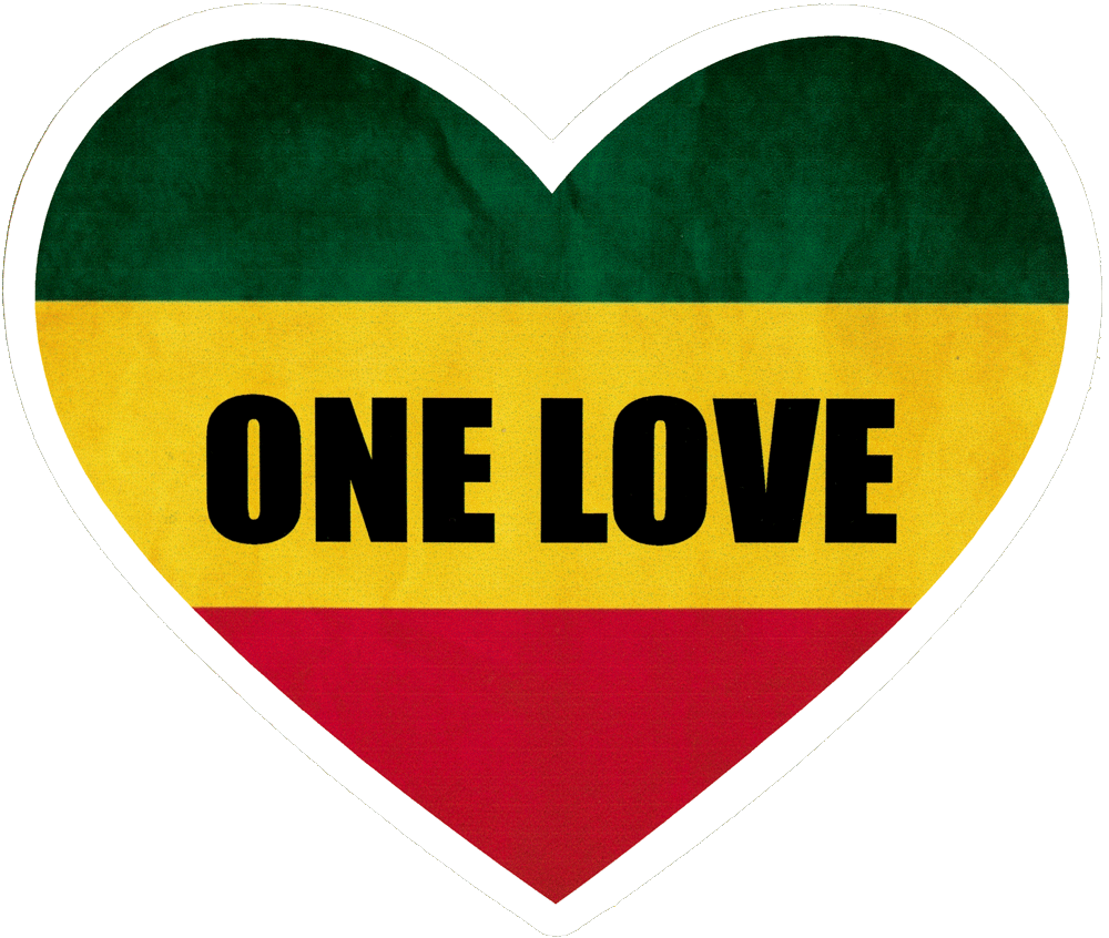 One love png. Heart small bumper sticker