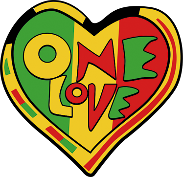 One love png. Rasta wall sticker tenstickers