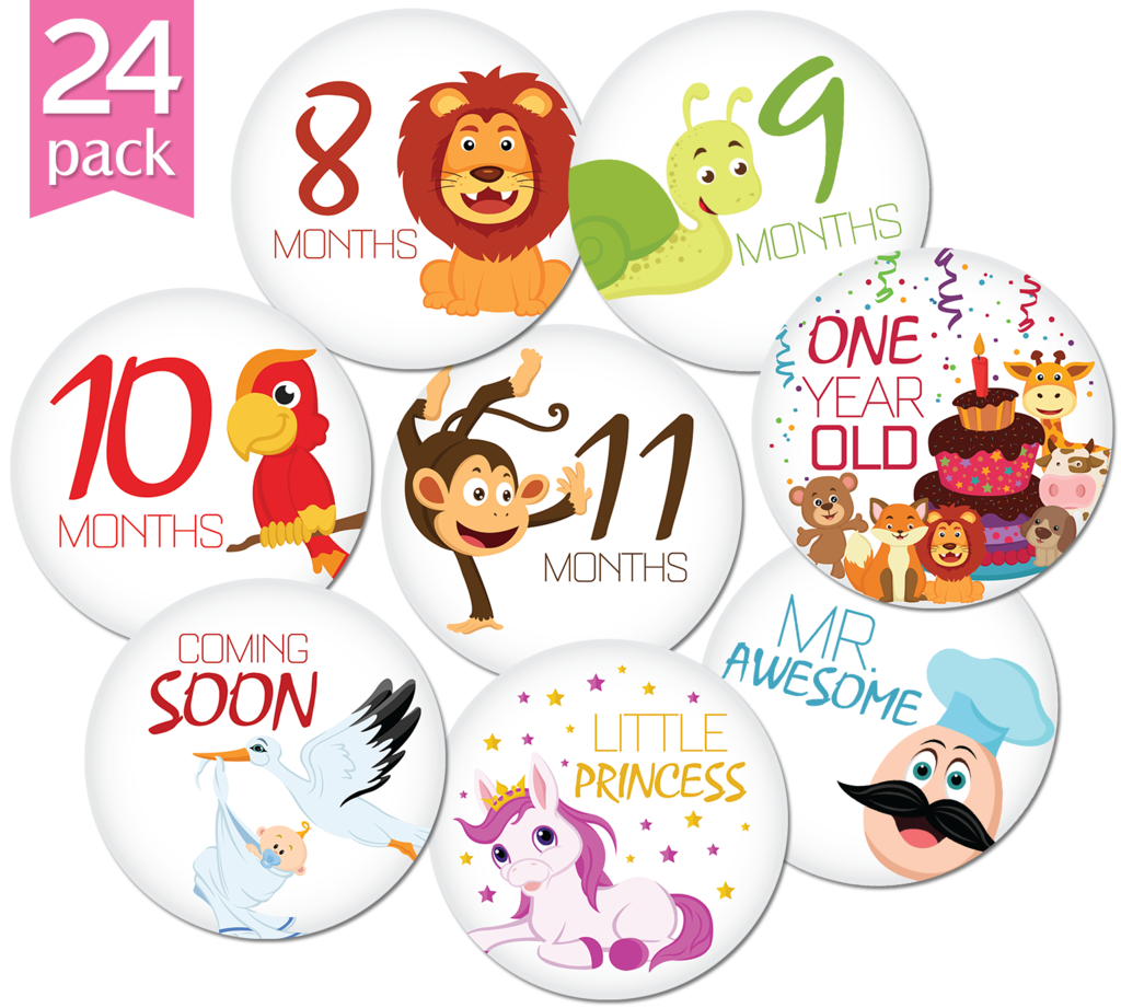 One month sticker png. Happy animalsmonthly and holiday