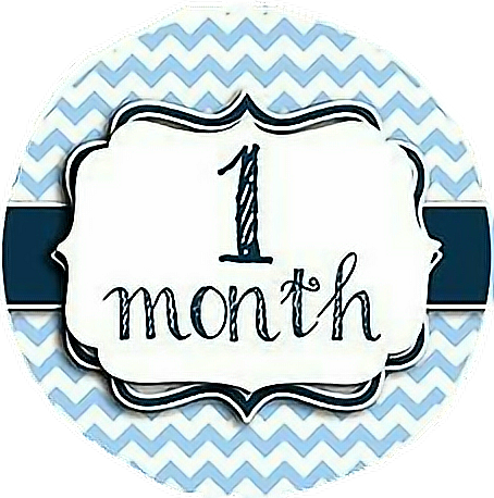 One month sticker png. By d nttrip