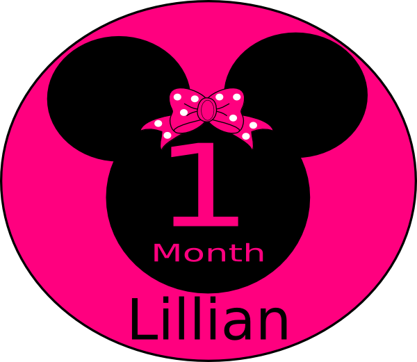 One month sticker png. Minnie mouse e clip