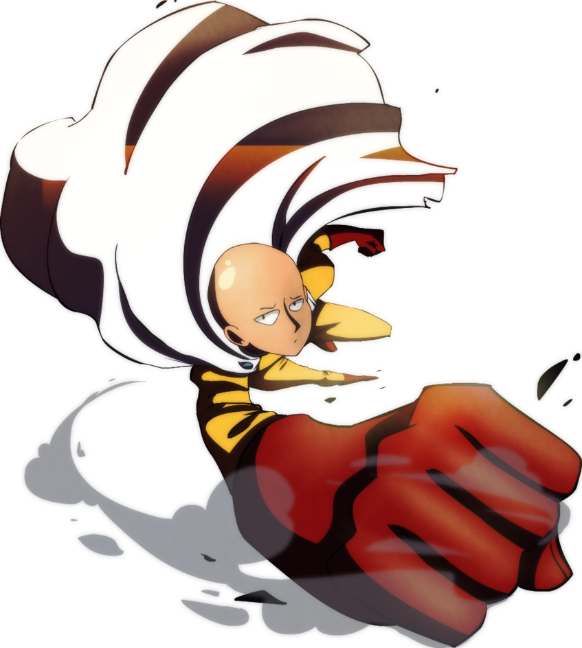 Saitama punch png. One man by s