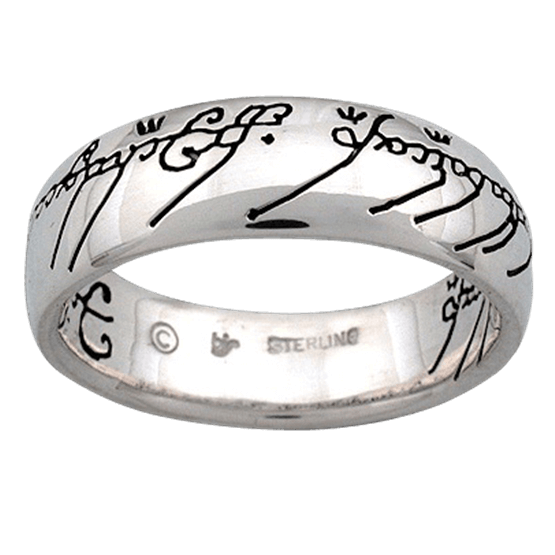One ring png. Color scripted in silver