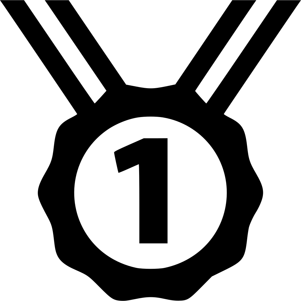 One vector medal. Number first svg png