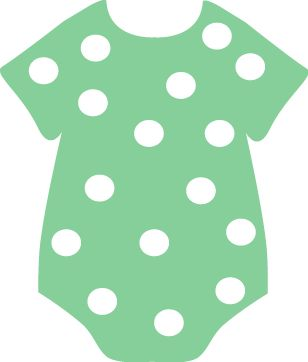 Onesie clipart green baby rattle. Best images on