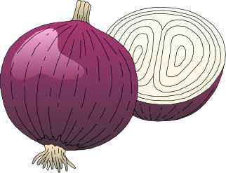 onion clipart cartoon purple