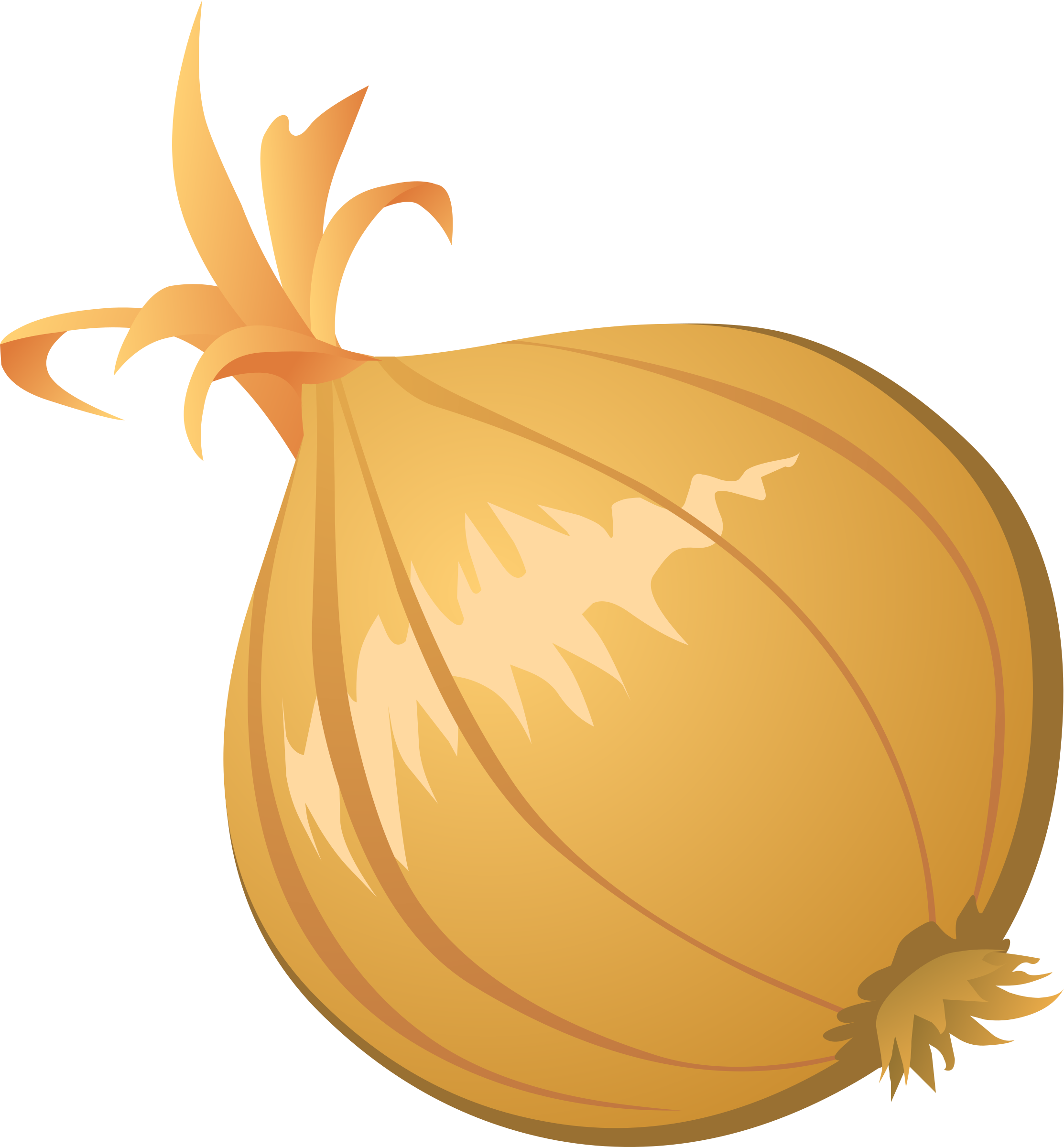 drawing vegetable onion