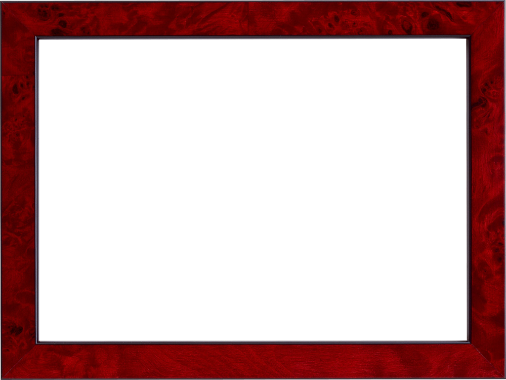Simple frame png. Photo home red transparent
