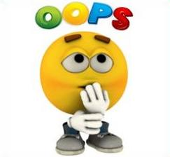 Oops clipart. Free picture free