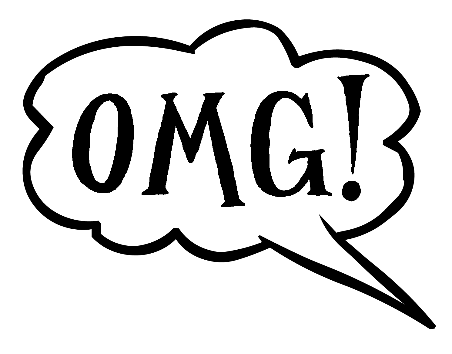 Oops clipart. Free speech bubble with
