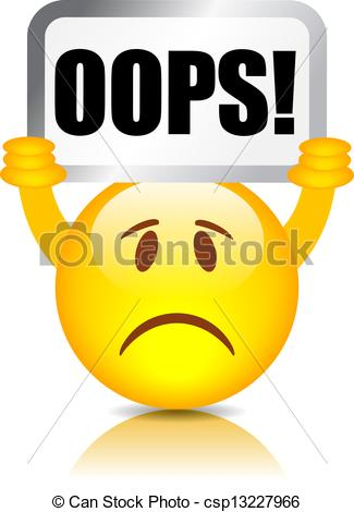 Vector symbol isolated on. Oops clipart png library
