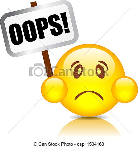 Oops clipart. Vector smiley illustration jpg library