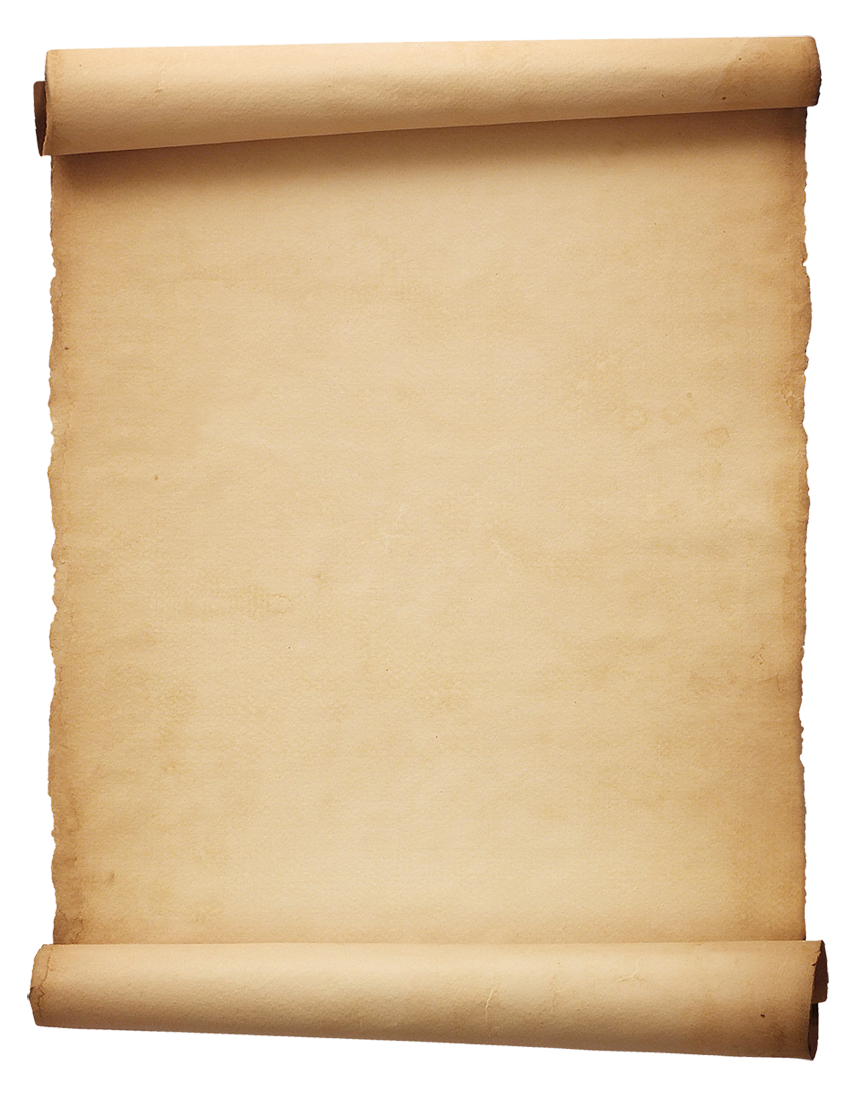 Old parchment png. Scroll file all