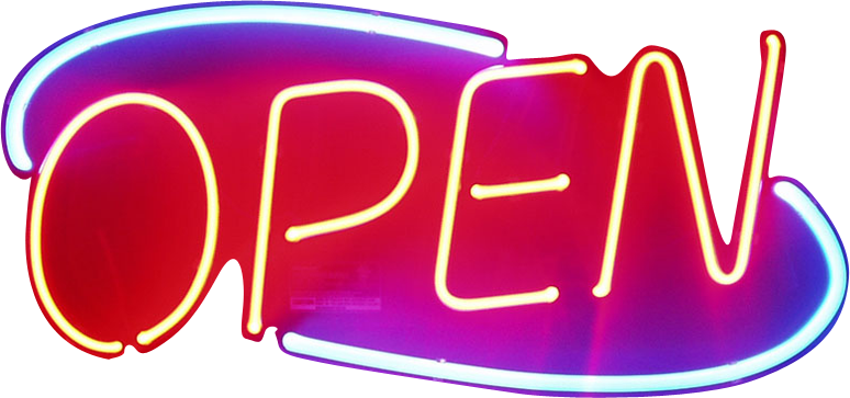 Open bar png. Neon sign transparent images