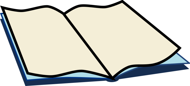 Page clipart booklet. Books free open book