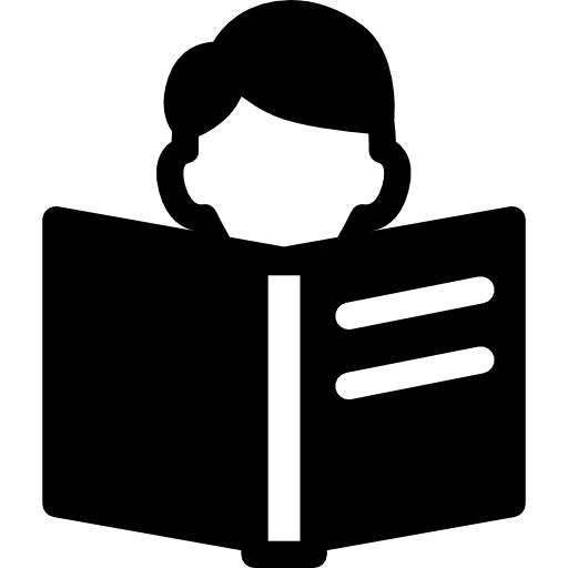 Open book silhouette png. Icon page svg
