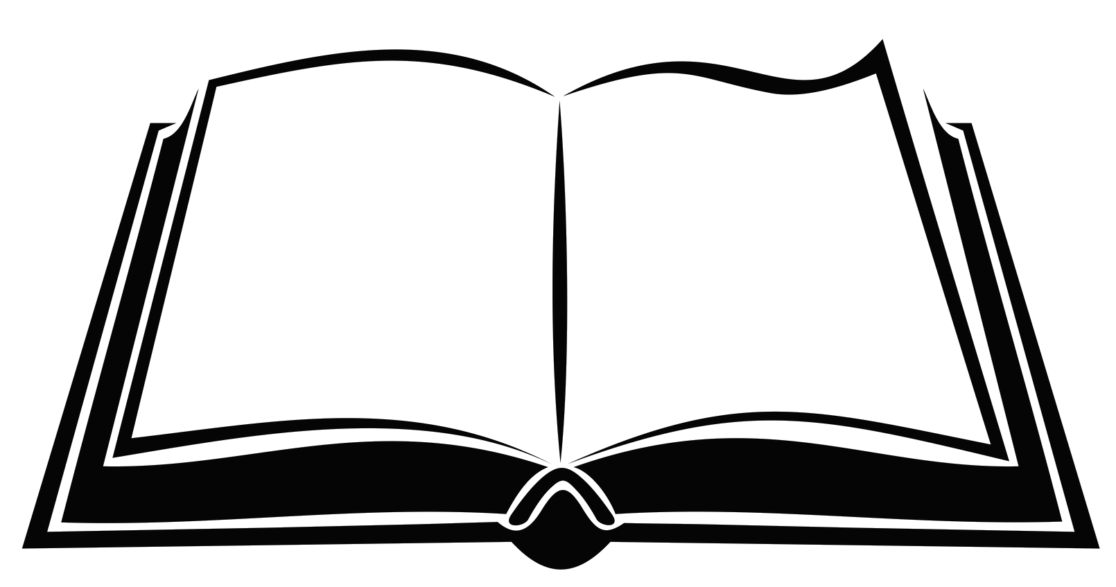 Open book silhouette png. Royalty free clip art