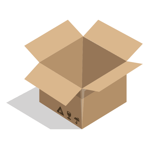 Svg box. Open with package signs