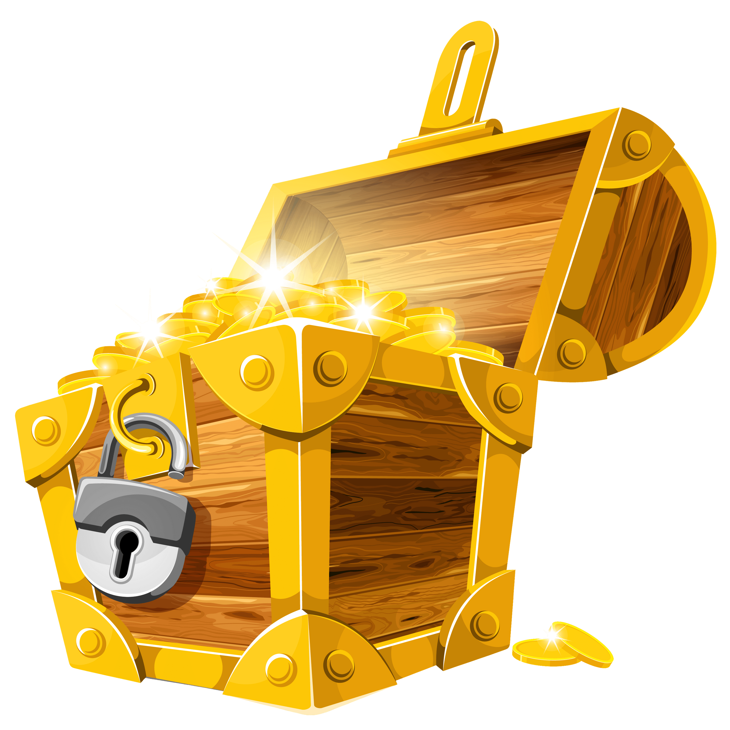 Open chest png. With lock transparent stickpng