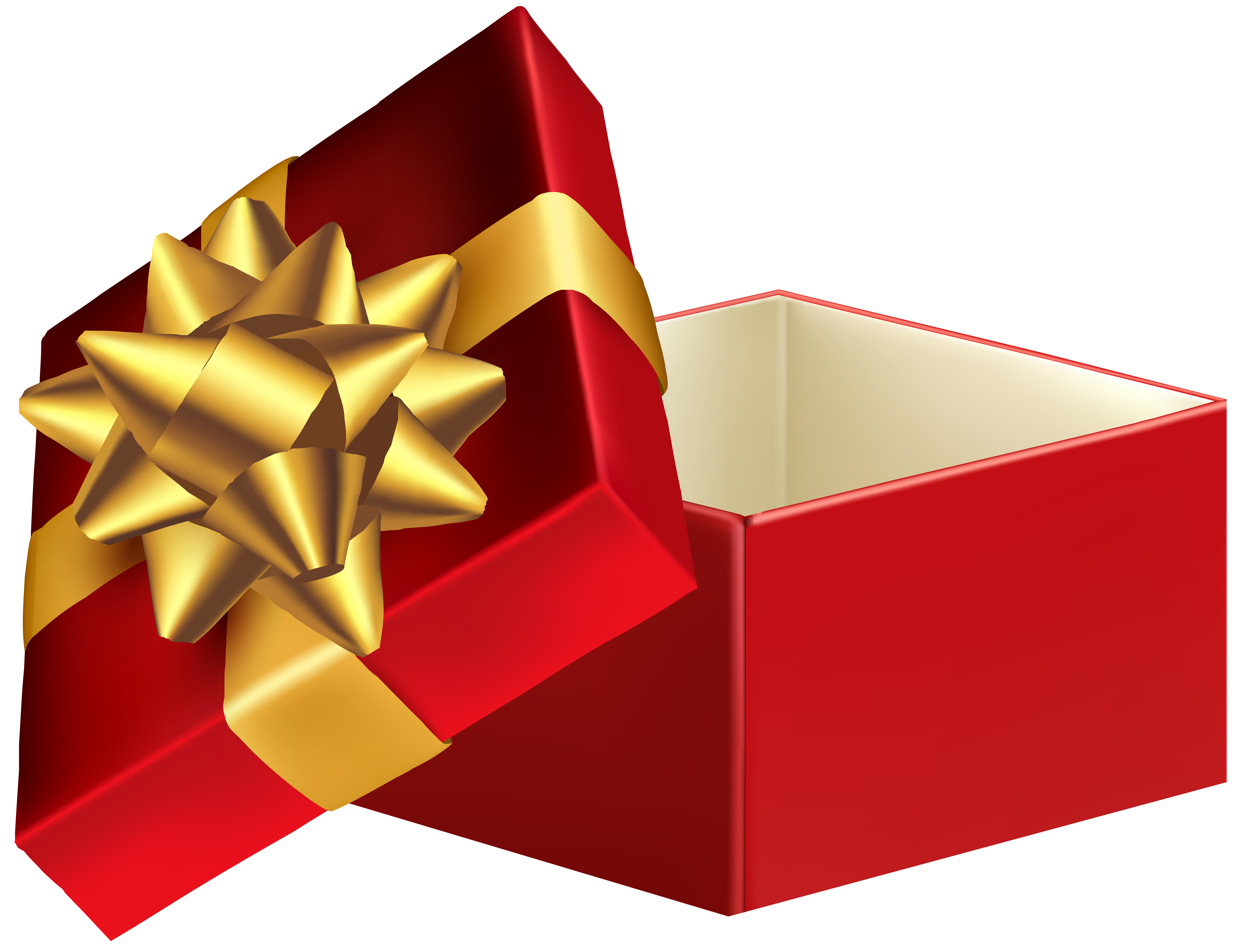 Open clip. Red gift box png