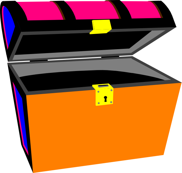 Pirate chest at clker. Open clip art free download