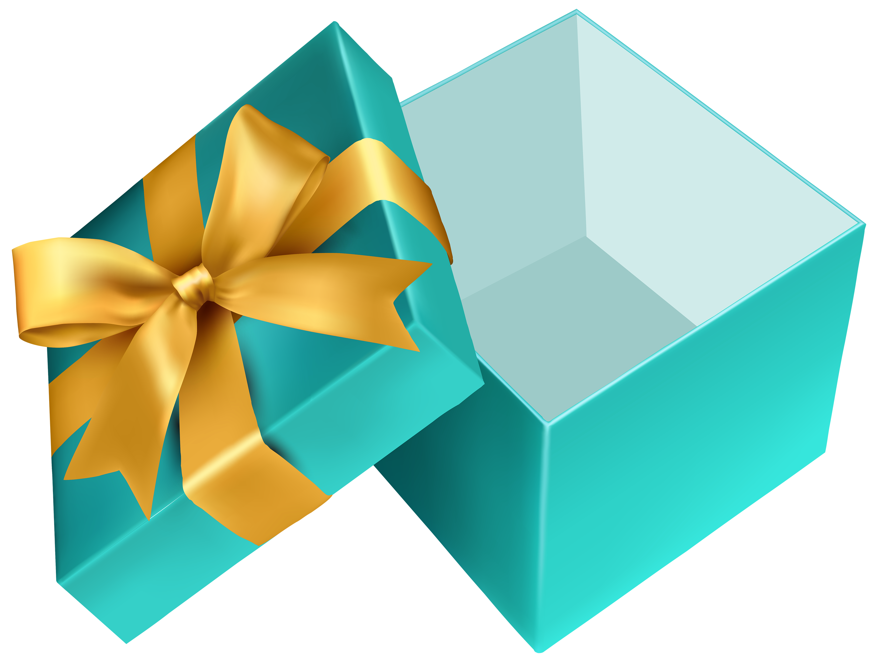 Open christmas present png. Blue gift clipart best