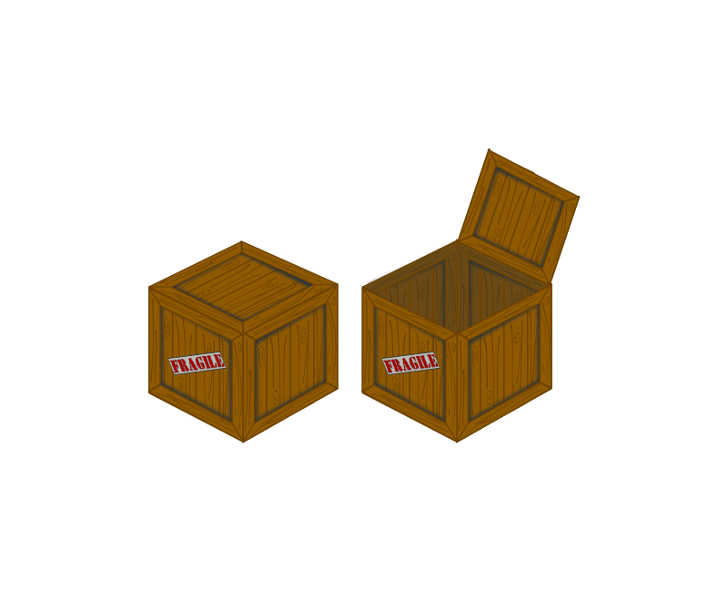Open crate png. Clipart closed and perspective