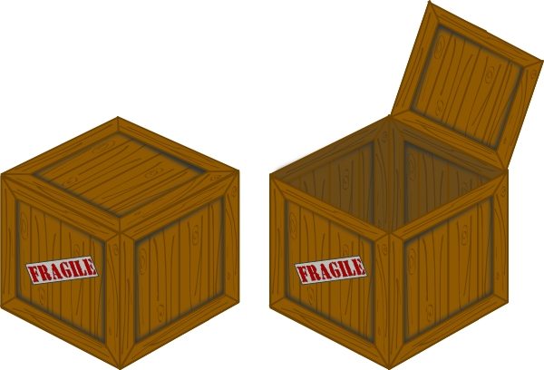 Open crate png. Closed and perspective clip