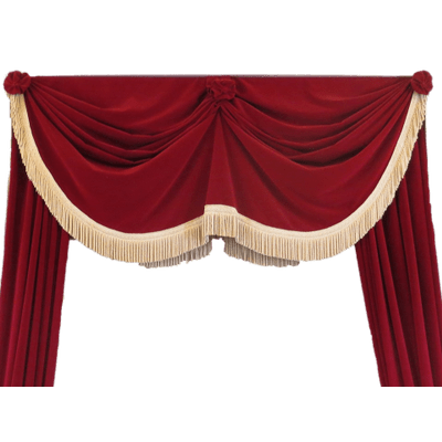 Red stage curtains png. Open with tie backs