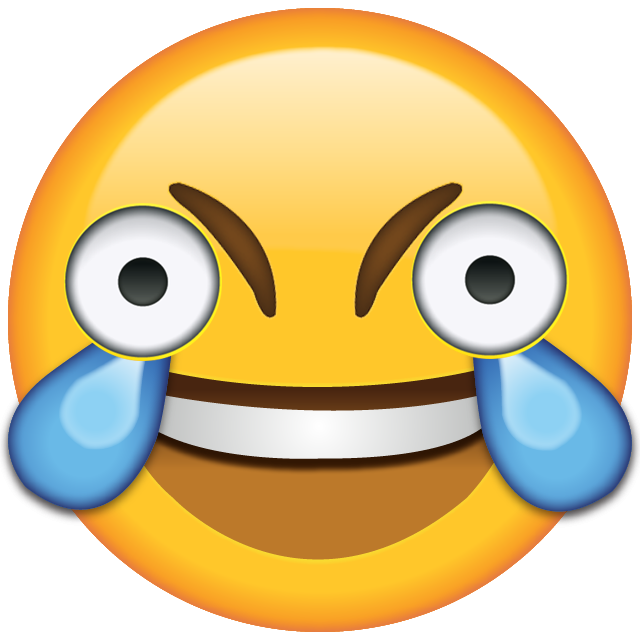 Hd know your meme. Open eye crying laughing emoji png clipart transparent download
