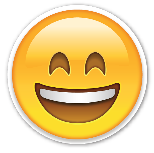 Smiling face with mouth. Open eye crying laughing emoji png image download