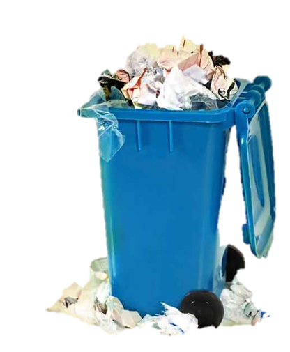 Open garbage can png. Smart solutions before pickup