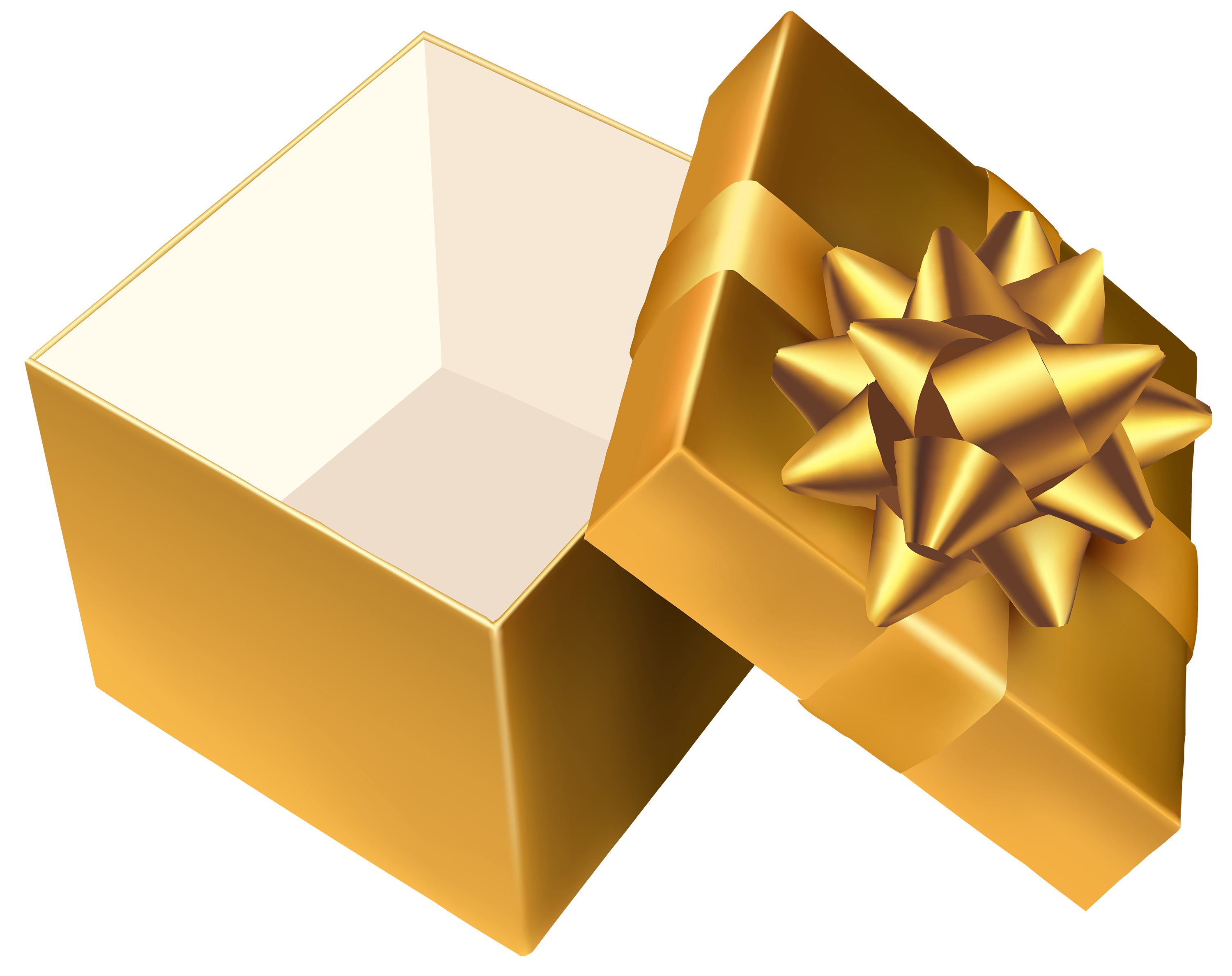 Open christmas present png. Gold gift clipart best