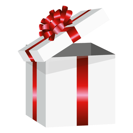 Open gift box png. Wrapped present transparent svg