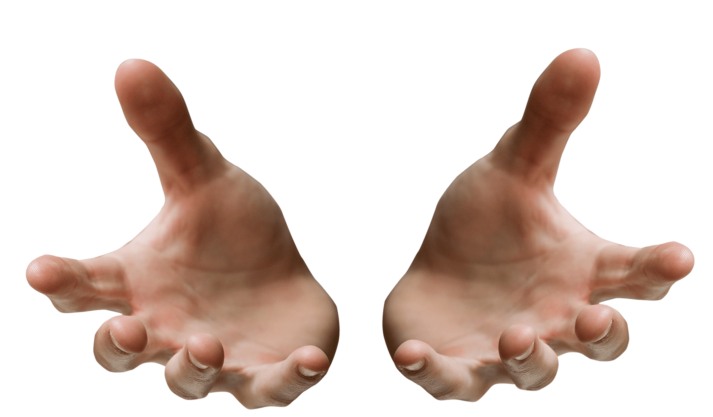 Open hand png. Hands receiving transparent stickpng