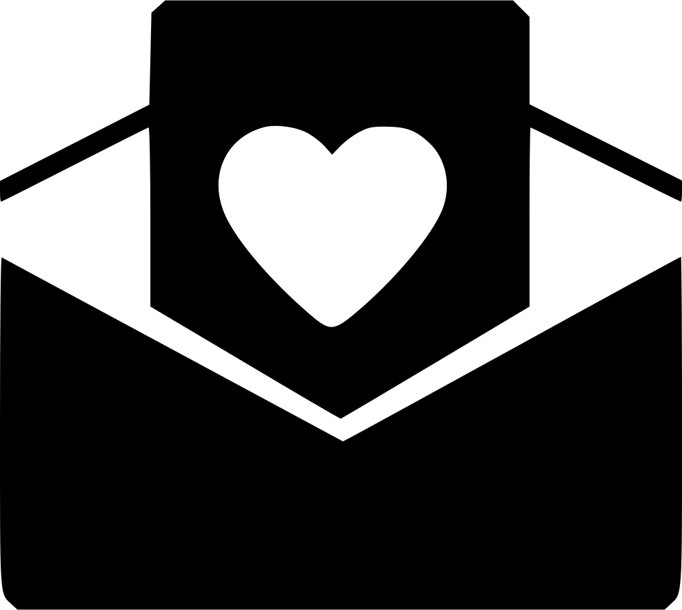 Open heart png. Day message svg icon