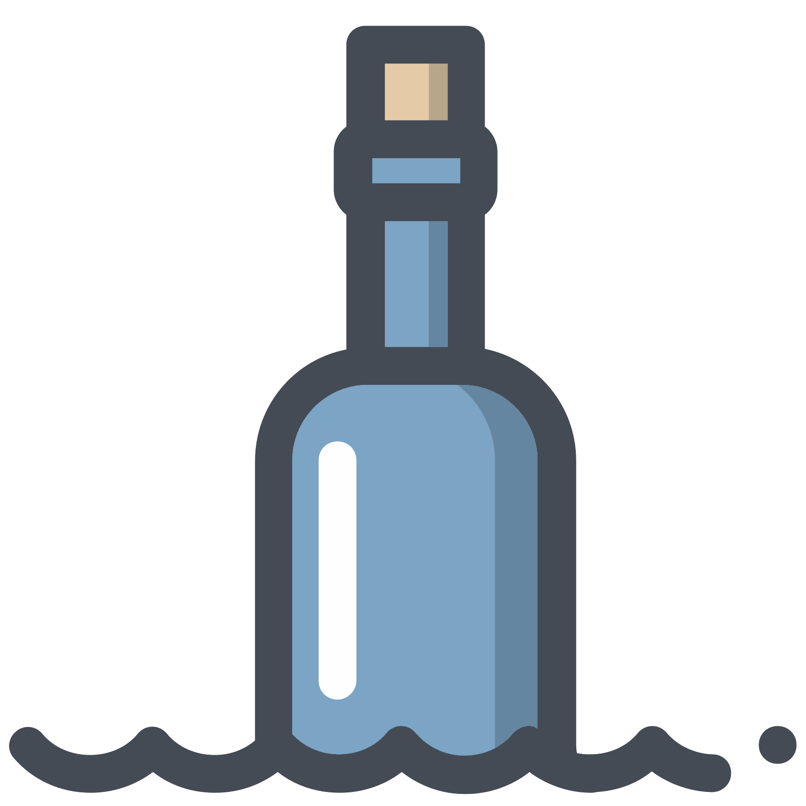 Open pill bottle png. Message in icon free