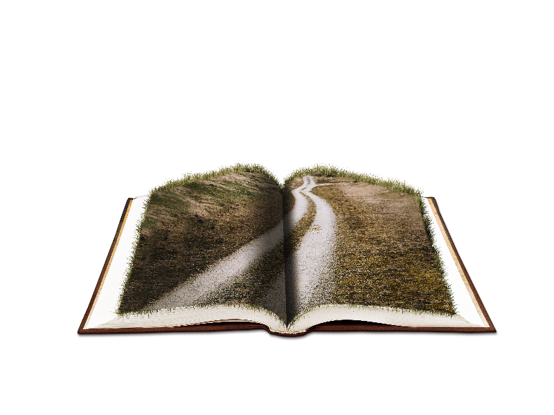 Open png in photoshop. Book fantasy with farm