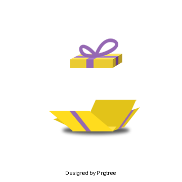 Open vector png. Gift box poster tied