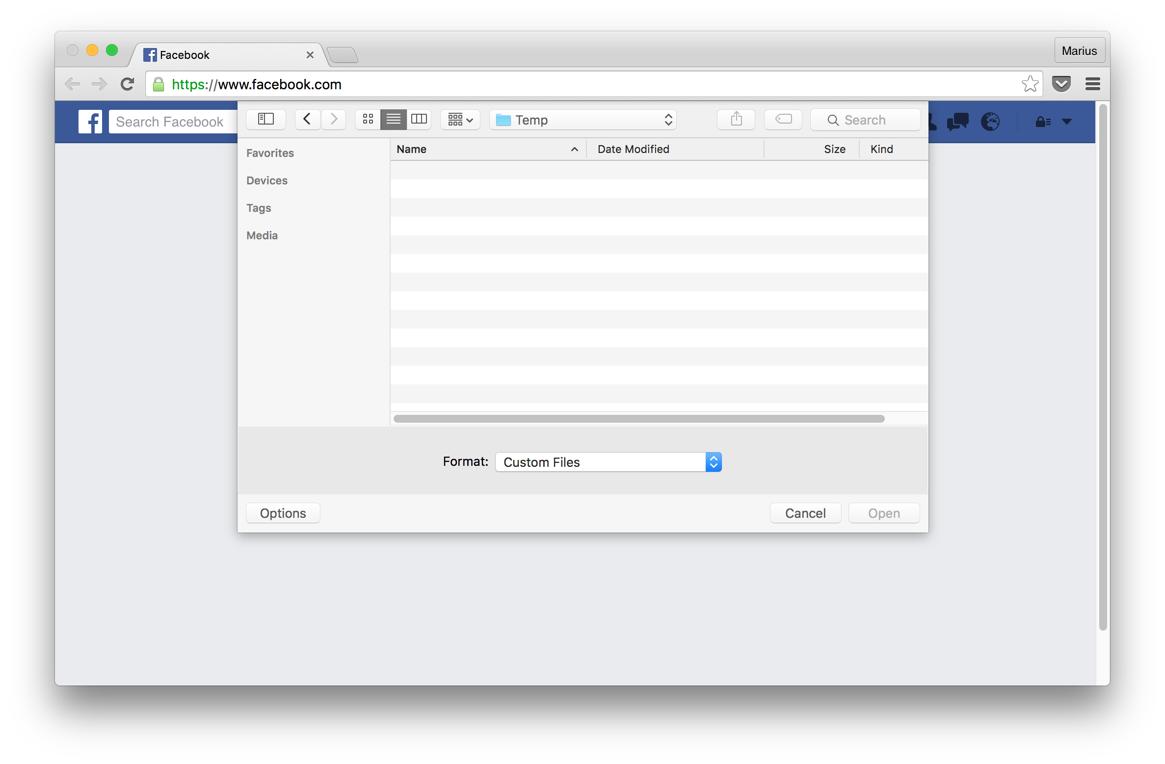 Opening png files on mac. Programmatically a file dialog