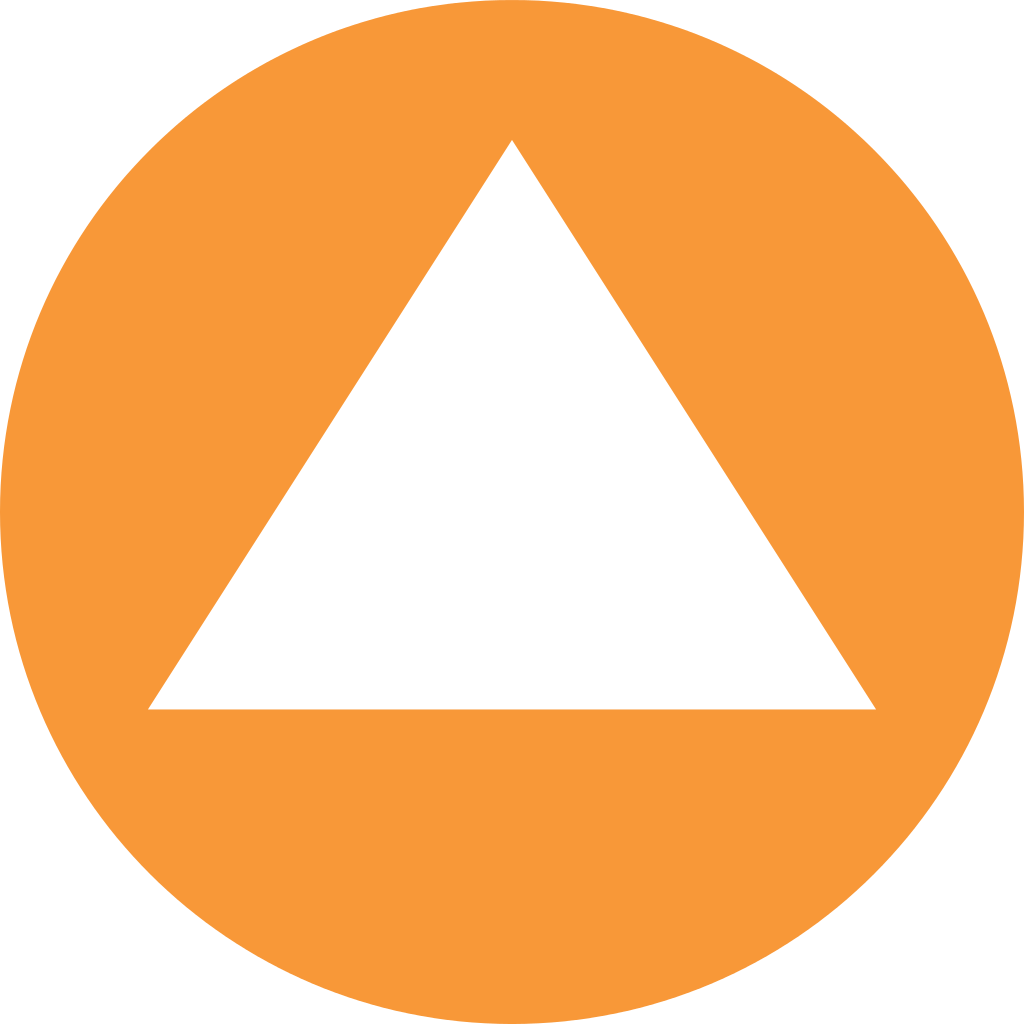 Orange background png. File white triangle in