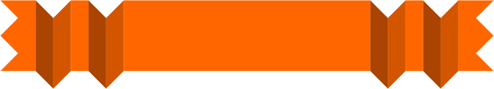 Orange banner png. Simple origami banners
