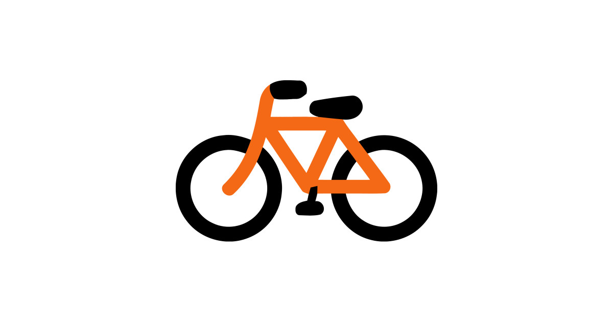 Orange bicycle. Bike emoticon by anotherone