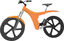 Orange bicycle. Free clipart clip art