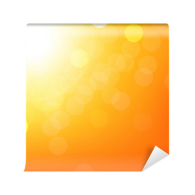 Orange bokeh png. Background with wall mural